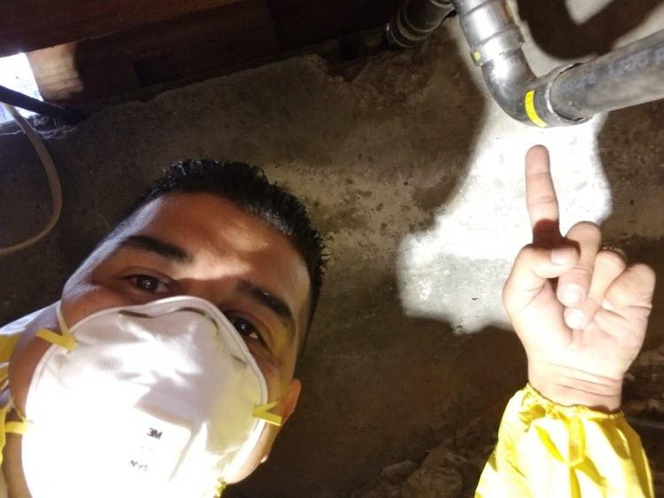 plumber finding a leak