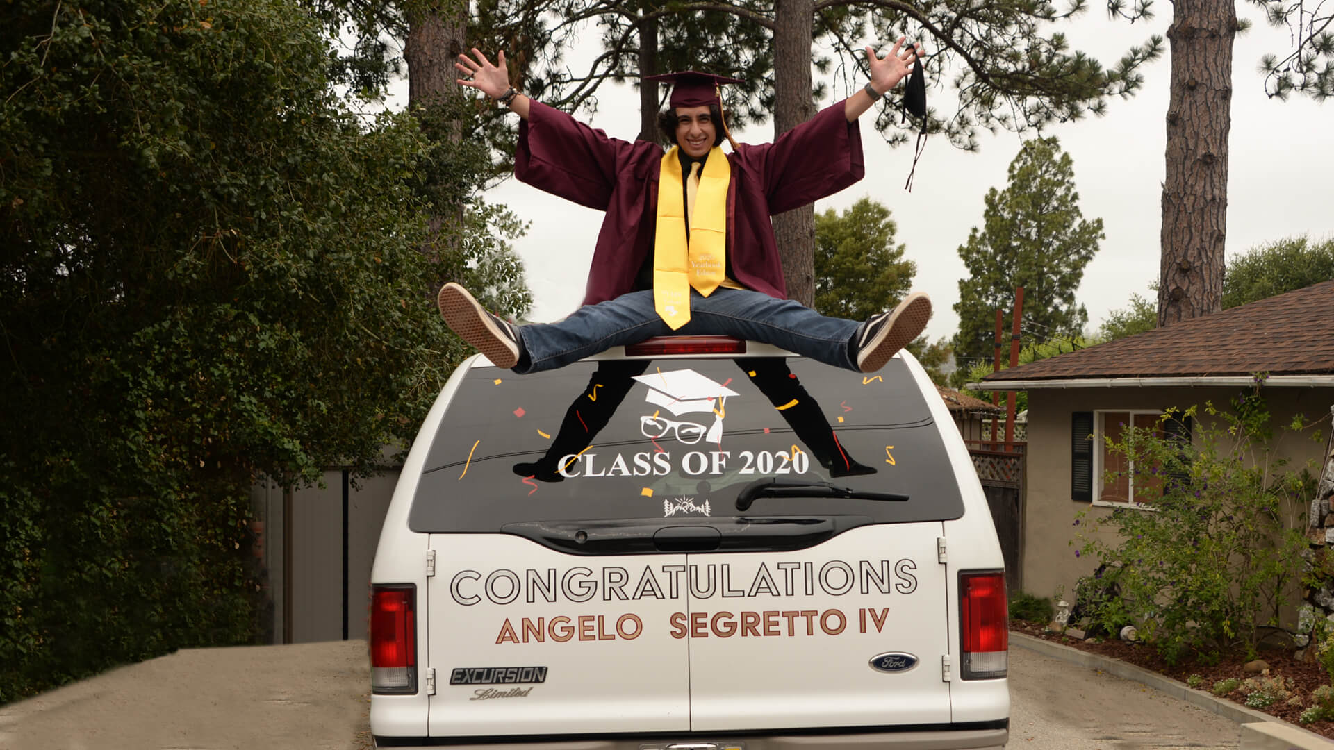 angelo graduation picture